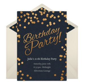 Online Birthday Party Dots - Blue Invitations