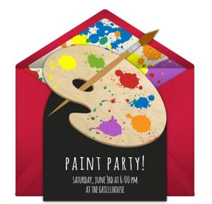 Online Paint Party Invitations