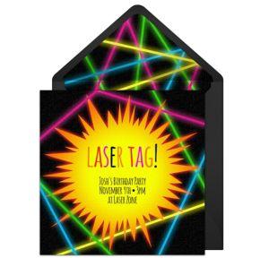 Online Laser Tag Invitations