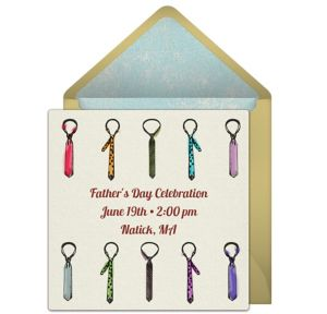 Online Tie Assortment Invitations