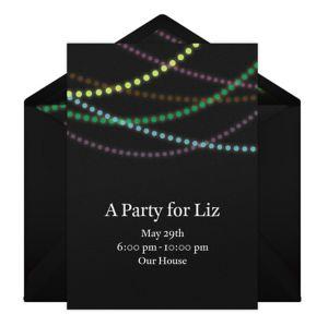 Online Night Time Lights Invitations