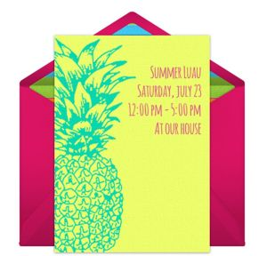 Online Summer Pineapple Invitations