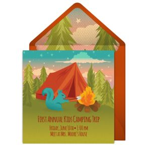Online Camping Trip Invitations