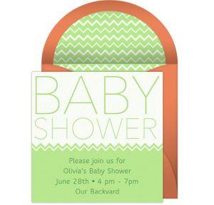 Online Baby Shower Headline Invitations