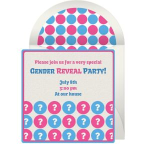 Online Reveal Dots Invitations