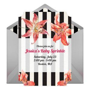 Online Floral Baby Sprinkle Invitations