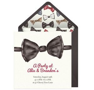 Online Bow Tie Invitations