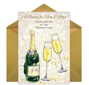 Online Champagne Toast Invitations