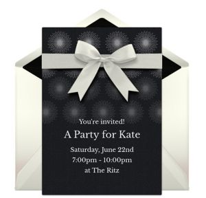 Online Formal Bow Invitations