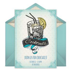 Online Vintage Cocktails Invitations