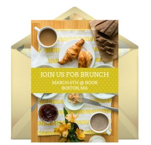 Online Weekend Brunch Invitations