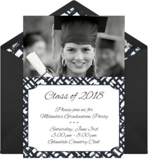 Online Modern Graduation Photo Invitations