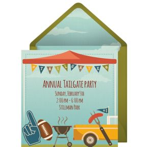 Online Tailgate Party Invitations