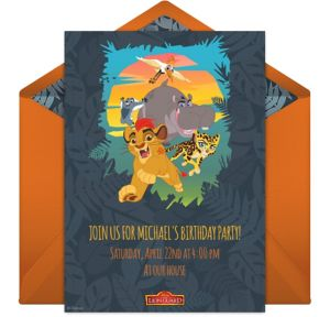 Online The Lion Guard Invitations
