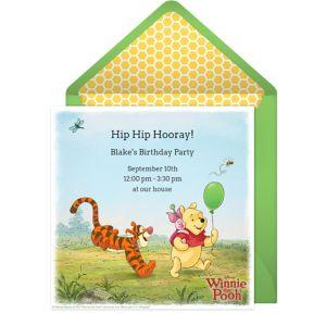 Online Winnie the Pooh Invitations