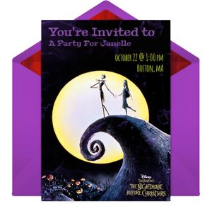 Online The Nightmare Before Christmas Invitations