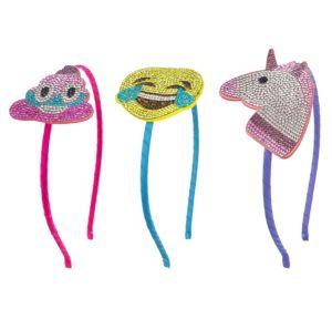 Rhinestone Smiley Headband