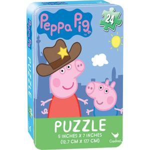 Peppa Pig Puzzle Tin 24pc