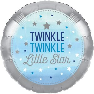 Blue Twinkle Twinkle Little Star Balloon