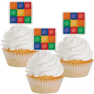 Building Blocks Cupcake Picks 12ct