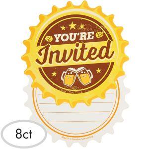 Cheers & Beers Invitations 8ct