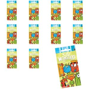 Jumbo Silly Monsters Stickers 24ct