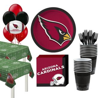 Arizona Cardinals Deluxe Party kit for 36 Guests
