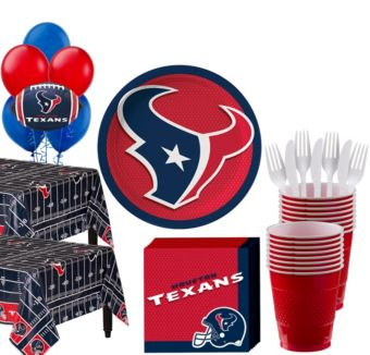 Houston Texans Deluxe Party kit for 36 Guests