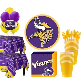 Minnesota Vikings Deluxe Party kit for 36 Guests
