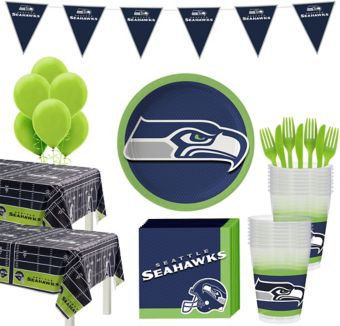 Seattle Seahawks Deluxe Party kit for 36 Guests