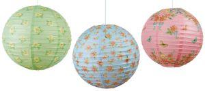 Floral Tea Party Paper Lanterns 3ct