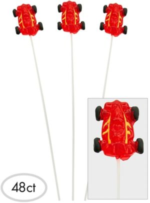 Race Car Sparklepops Lollipops 48ct
