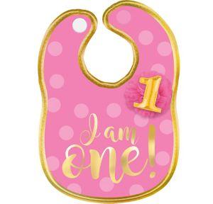 Pink & Gold 1st Birthday Bib