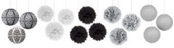 Black & White Bridal Shower Ceiling Decorating Kit