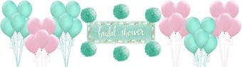 Mint to Be Bridal Shower Decorating Kit with Balloons