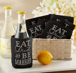 Eat, Drink & Be Married Can Coozies 12ct