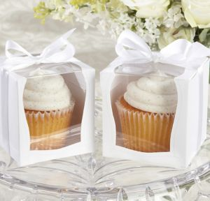 White Window Cupcake Boxes 12ct
