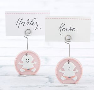 Baby Girl Pink Place Card Holders 6ct