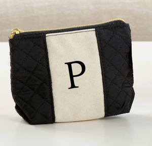 Black & White Monogram P Makeup Bag