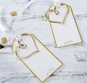 Gold Heart Escort Cards 12ct