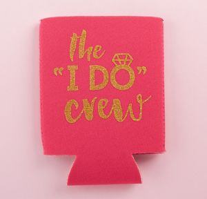 I Do Crew Can Coozies 4ct