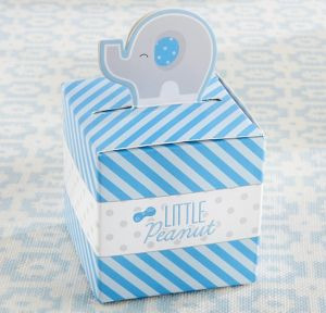 Little Peanut Elephant Blue Favor Boxes 24ct