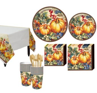 Warm Harvest Tableware Kit for 16 Guests