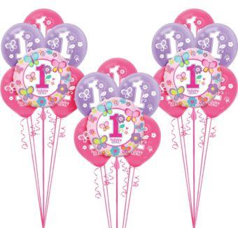 Sweet Girl 1st Birthday Balloon Kit