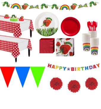Hungry Caterpillar 1st Birthday Deluxe Party Kit for 24 Guests