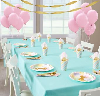 Sparkling Unicorn Basic Party Kit for 8 Guests