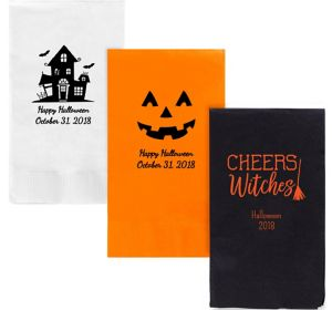Personalized Halloween Guest Towels