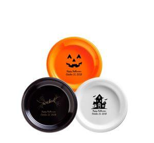 Personalized Halloween Plastic Dessert Plates