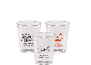 Personalized Halloween Hard Plastic Shot Glasses 2oz