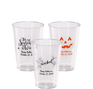 Personalized Halloween Hard Plastic Cups 14oz